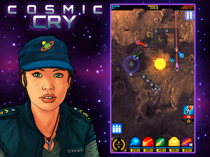 Cosmic Cry - Tower Defense TD Screen 1